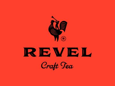 Revel Logo v2 person rooster tea logo