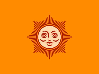 Revel Logo v3 face sun tea logo