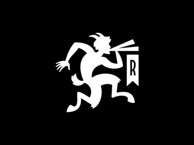 Revel Logo v4 instrument horns mythological satyr pan tea logo
