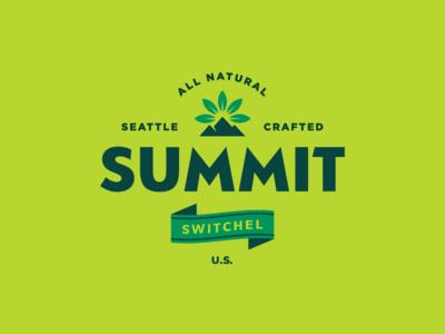 Summit Logo nature switchel leaf leaves mountain summit logo