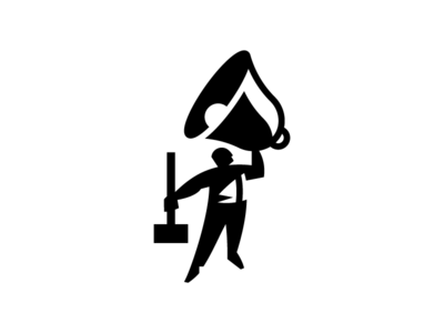 Self Brand Outtake branding bell person logo