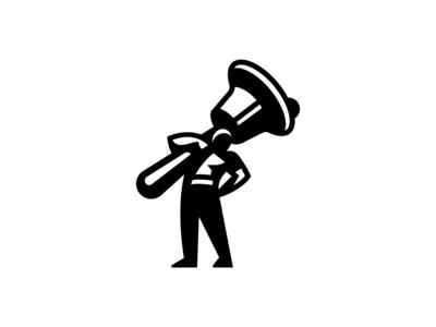 Self Brand Outtake2 man bell branding logo