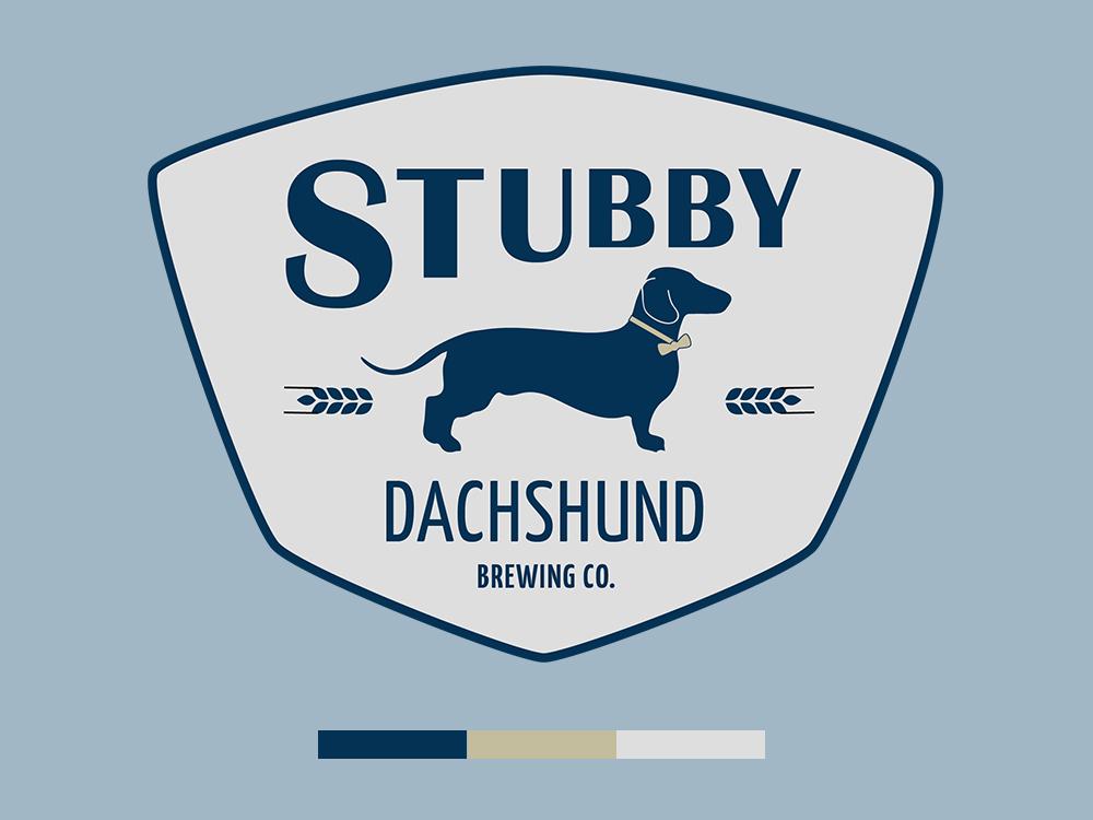 Stubby Dachshund Brewing Company green bay wisconsin brewery beer beer branding vector branding logo design trinamic santagaj trinamic digital