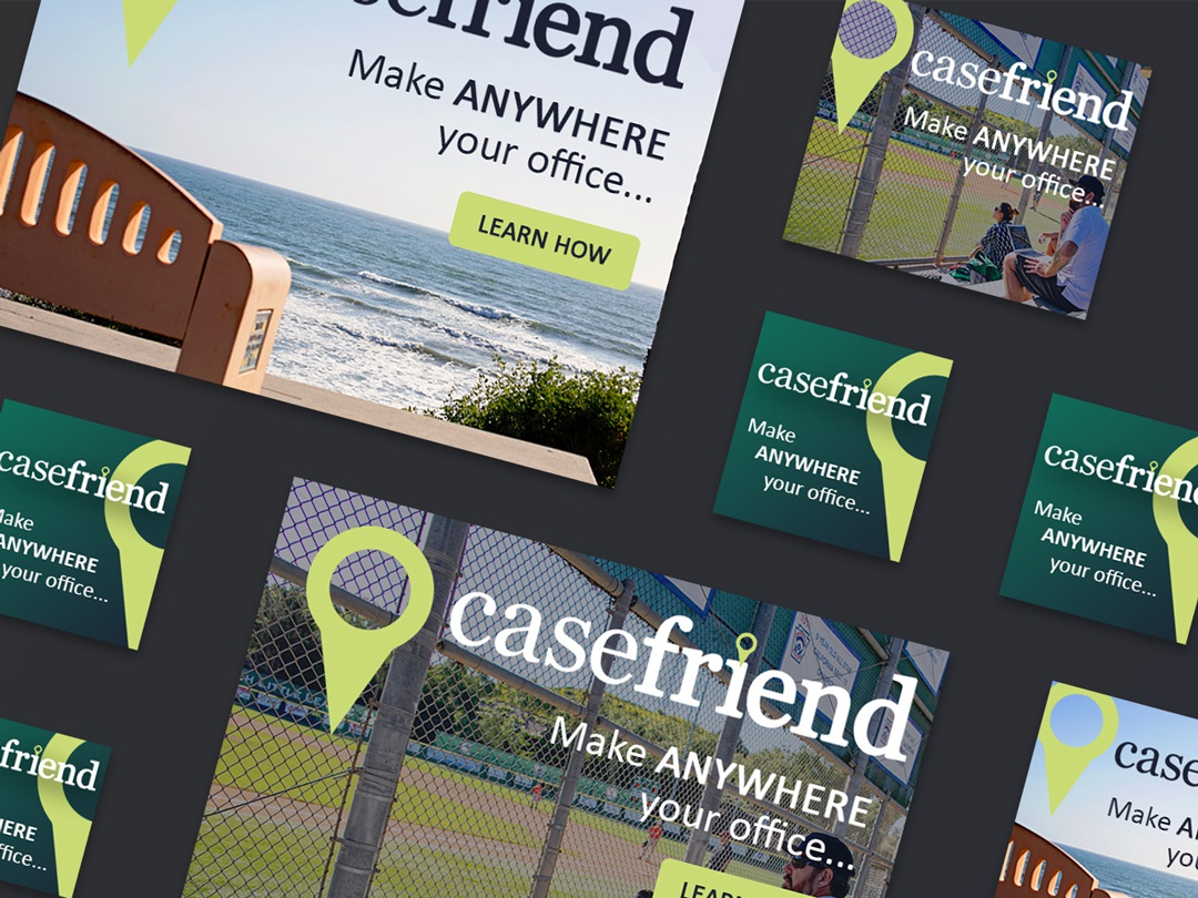 Casefriend Ad Campaign work from home app brand awareness digital advertising digital ads ad campaign trinamic digital