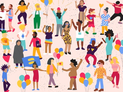 Diversity human love illustrator graphic celebration equality pride color illustration people culture ethnicity diverse diversity