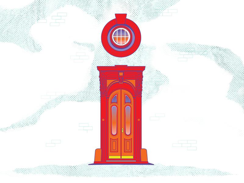 brownstone livin' - letter i  ai grit new york nyc window brownstone illustrator i 36days-i 36daysoftype