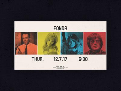 Fonda Party Invite