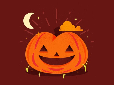 Plump Pumpkin cute scary pumpkin spooky horror halloween holiday illustration vectors graphic design