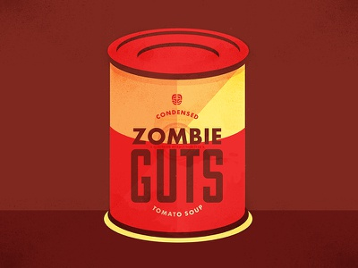 Zombie Guts: Condensed Tomato Soup spooky horror scary campbells soup soup tomato zombies holiday halloween vectors illustration graphic design