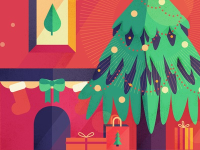 Gifts Under the Tree christmas tree tree gifts holiday christmas vectors design graphic design