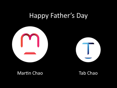 Happy 2015 Father's Day design visual