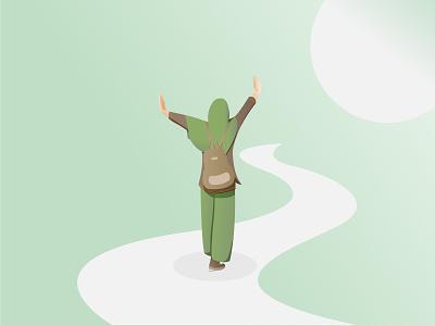 Flat Illustration - Hopefulness minimal design graphic design vector illustration flatillustration
