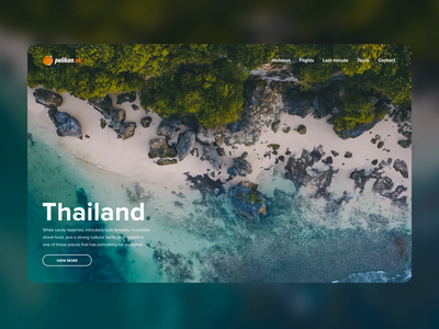 Travel landing page animation tomweb tomas zubrik white pelicans after effects animation travelling traveling thailand orange web design landin page travel agency pelican pelikan travel