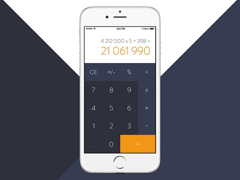 Daily Ui 4 Calculator Mobile Zubrik Tomas Tomweb Ios