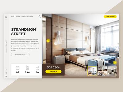 Homy - Real Estate brown yellow ux property desktop ui web design real estate tomweb zubrik tomas