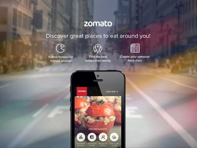 Zomato Mobile Landing Page