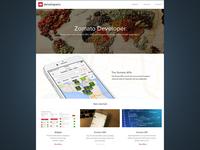 Developers Page Zomato
