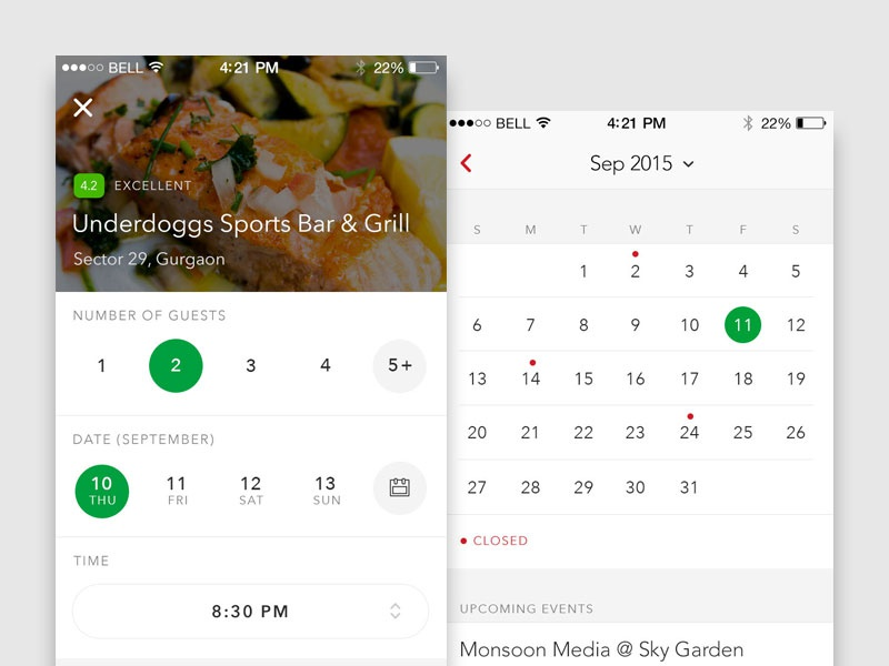 Restaurant Table Booking By Manuj G Dribbble - Table reservation in restaurant
