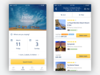 Search hotels travel app