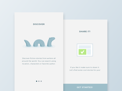 Daily UI - Day 23 - Onboarding slide how it works how to onboarding loch ness ui dailyui daily100 day023
