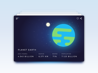 Daily UI - Day 45 - Info Card space earth planet card info ui dailyui daily100 day045