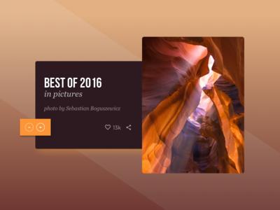 Day 63 Best of 2016 card glow shadow photography orange dailyui 2016 2015 best of