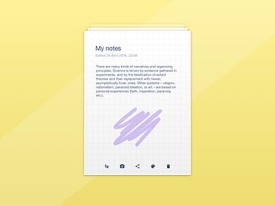 Day 65 Notes Widget ui dailyui minimal clean paper yellow notepad widget notes