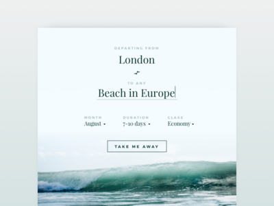 Day 68 Flight Search green search flight inspiration travel clean dailyui typography minimal