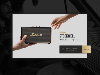 Day 69 Trending gradient button shopping product card trending minimal. dailyui black gold marshall