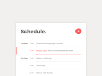 Day 71 Schedule