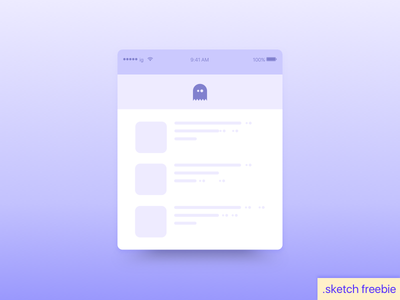 Day 76 Loading Content Freebie giveaway ui free dailyui freebie icon ghost minimal purple content loading