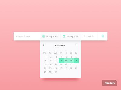 Day 80 Date Picker Freebie sketch giveaway freebie dailyui calendar picker date form search minimal