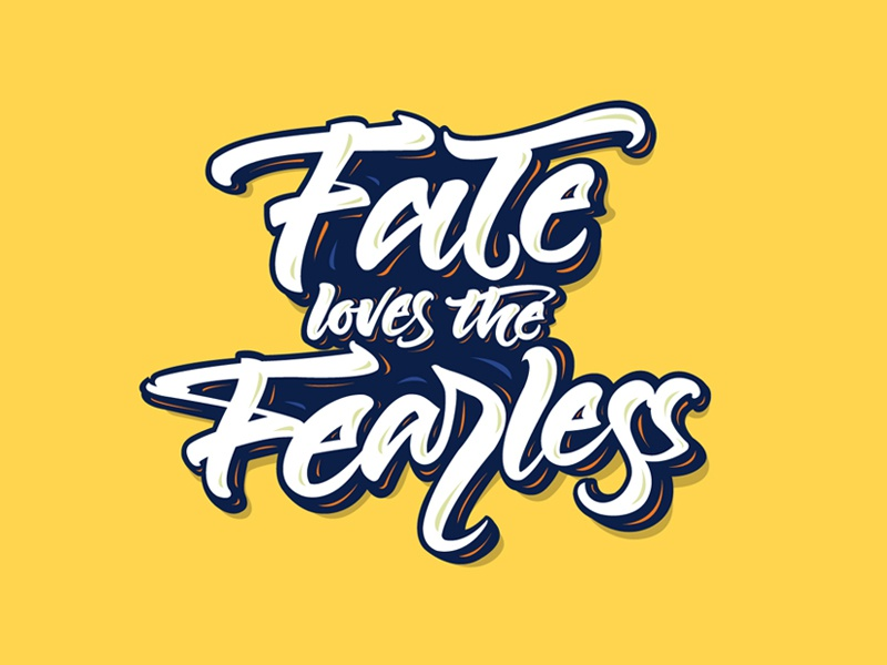 Fearless Life motivational-quotes typography digital-lettering