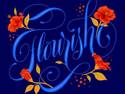 Flourish illustration print procreate calligraphy custom art typography lettering