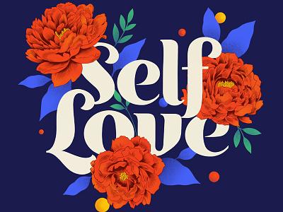 Self Love procreate design lettering digital lettering custom art typography illustration