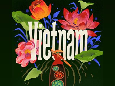 Vietnam procreate art procreate design lettering digital lettering typography custom art illustration