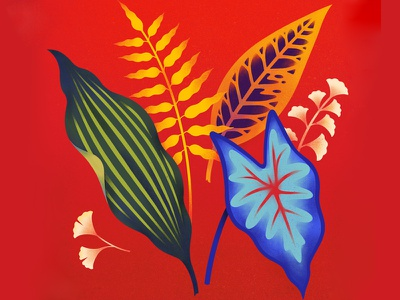 Graphic Leaves design custom art graphic art procreate art procreate ipad pro graphic illustration