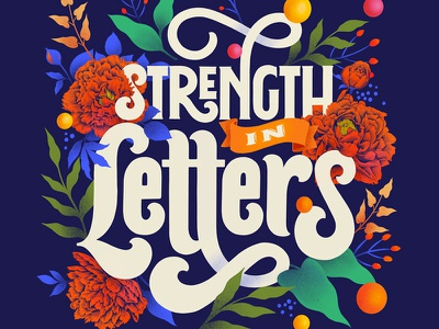 Strength In Letters ipadproart procreate art procreate design lettering custom art typography illustration