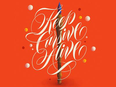Keep Cursive Alive lettering digital lettering ipad art procreate app procreate calligraphy typography illustration