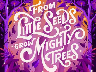 World Environment Day 2019 print trees plants environment design procreate lettering custom art digital lettering typography illustration