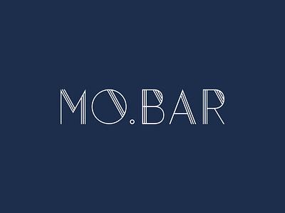 MO.BAR Food & Drinks dark green dark blue drinks food restaurant mark dailylogo branding logodesign logo