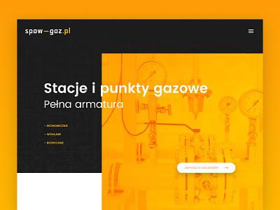Spaw-Gaz landing page modern flat clean uidesign ux designer ux process uiux black  white orange website webdesign web www landing page landing