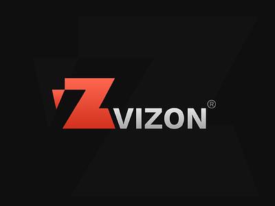 Vizon illustrator logo vizon