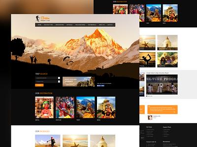 Golden Trek web design websites nepali trekking website