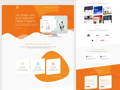 DIT Solution xd design illustrator website design