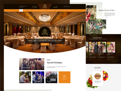 Maxims nepali website design banquet