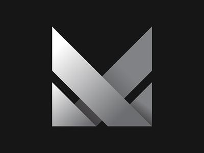 Marvo logo white black minimal geometric logo m