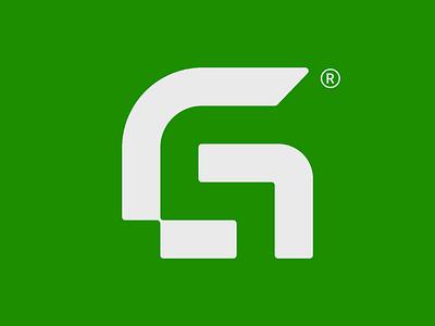 GoodSales logo option monogram geometric logo minimal negative space logo s g