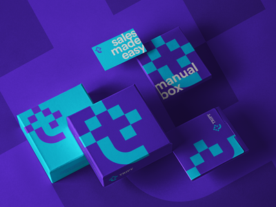 Tripy unused concept teal purple logo purple geometric minimal logo