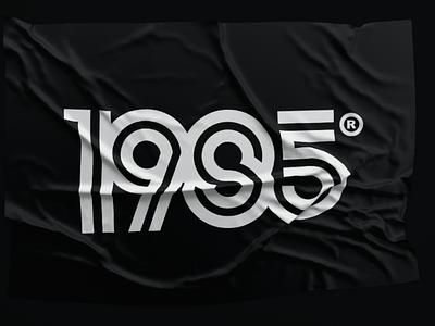 1985 logo typography vintage retro 80s numeral logo 1985